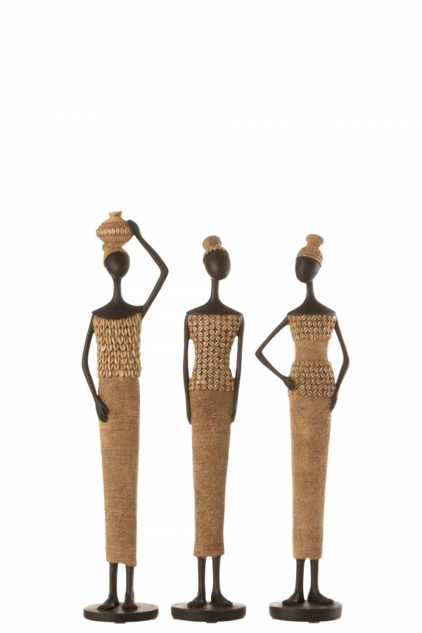 Διακοσμητική φιγούρα αφρικάνας 10Χ8Χ43