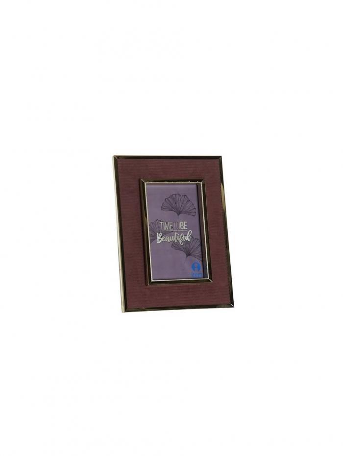 Μεταλλική κορνίζα σε μπορντώ χρώμα, 17Χ22