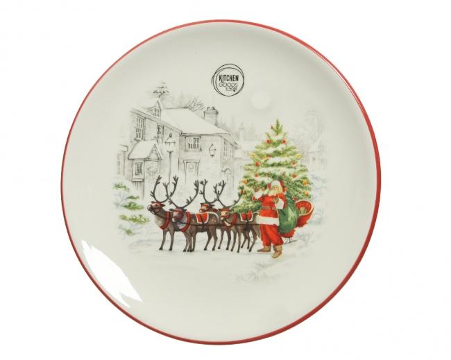 Χριστουγεννιάτικο πιάτο Φ22εκ.